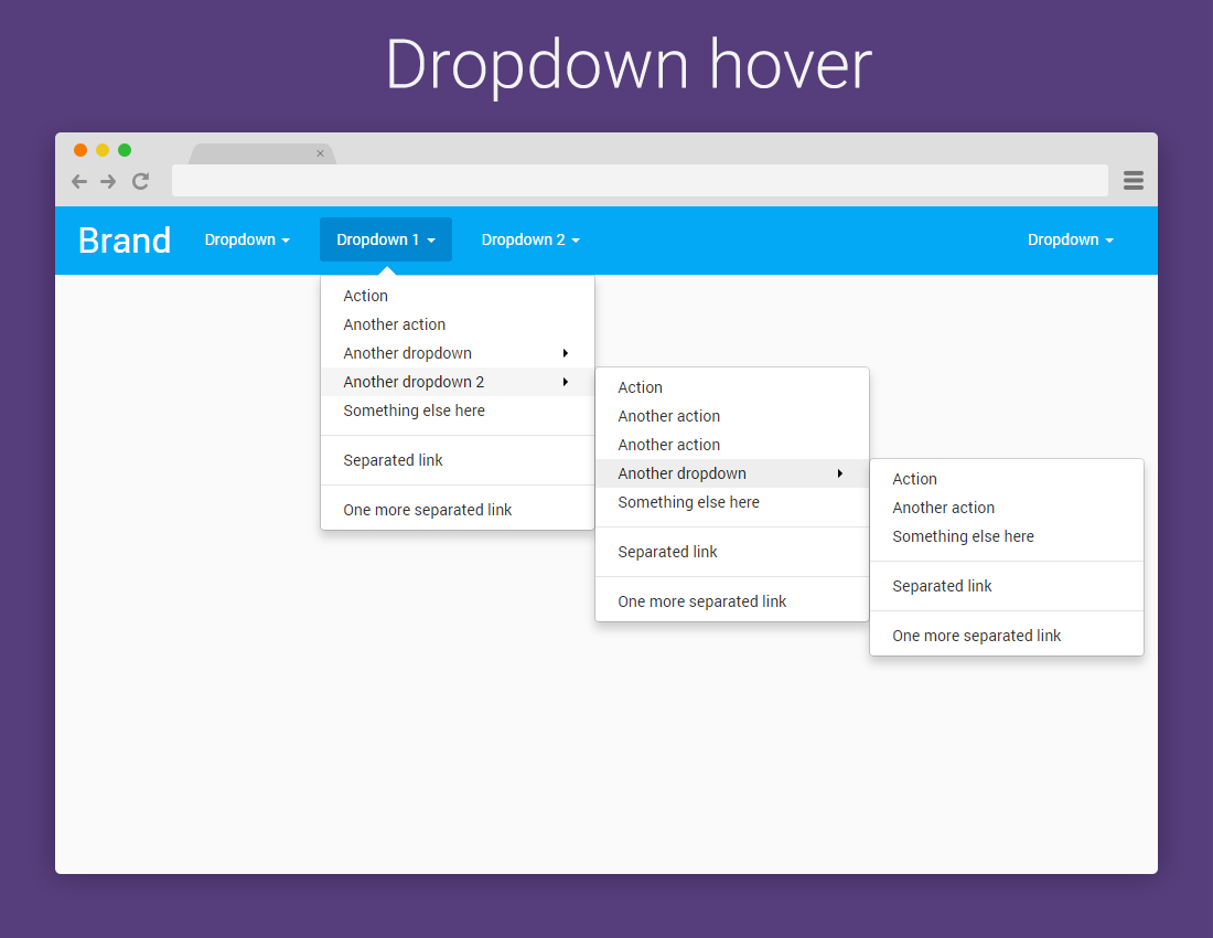 Bootstrap Dropdown On Hover